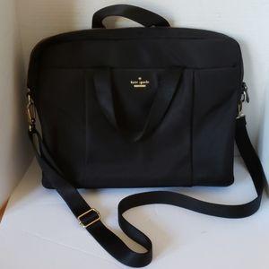 Kate Spade black nylon computer bag